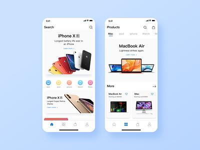 apple store redesign app. ui