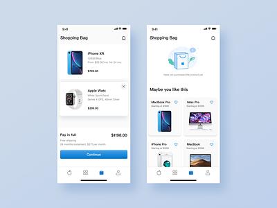 Apple Store app redesign ui