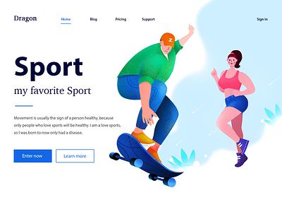 sport illustration illustration. ui