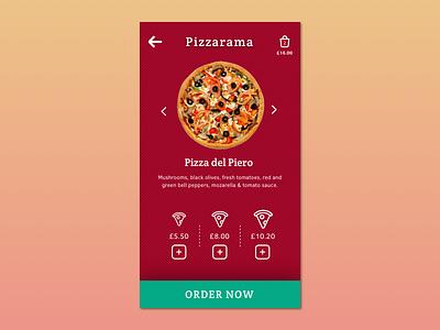 Mobile Pizza Order mobile interface food order pizza app mobile ux ui mobile app design