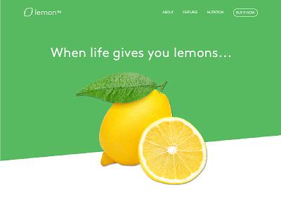 Lemon Landing Page funny lime product page clean minimalistic simple web ui lemon landing page web design