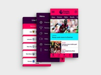 Premier League Mobile App Design