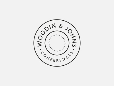 Woodin & Johns Branding badge stamp simple modern cleaning conferences restaurant catering graphic design logo branding brand identity