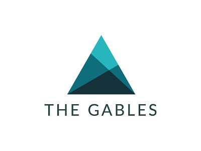 The Gables Logo premium modern graphic design triangle gable real estate development logo branding