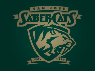 SaberCats Concept football arena league logo branding san jose