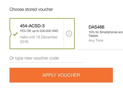 E-Commerce Vouchers light clean checkout promocode discount shop field form ux ui ecommerce voucher