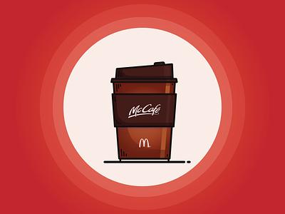 You want McCafé® Coffee right now dope flat mug cup coffee mcdonalds mccafe