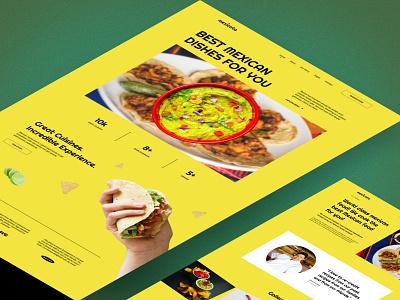 Mexican restaurant website. landing mexican restaurant dishes food design interface website ui webdesign