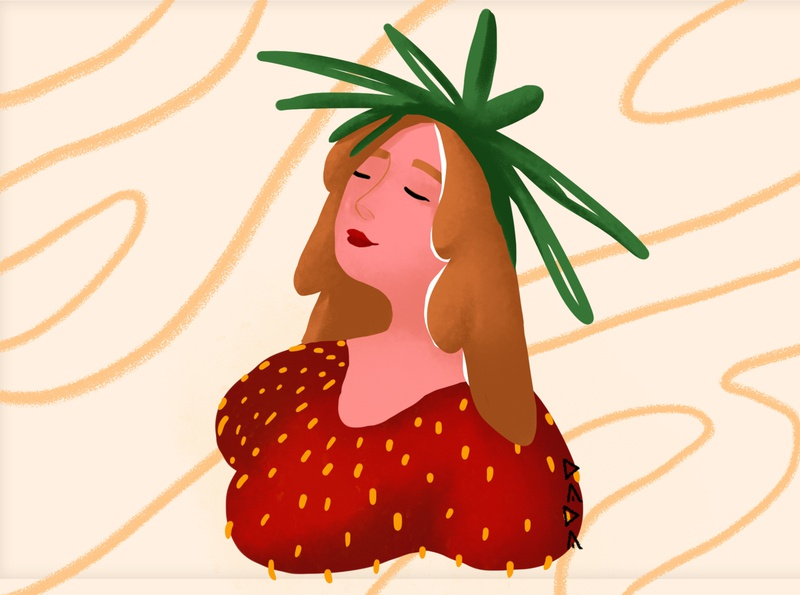 Strawberry lady 🍓