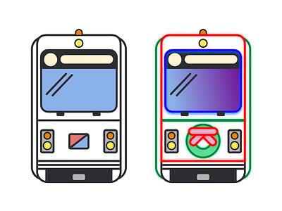 City Trolley & Holiday Trolley philadelphia septa illustration transit train flat cute cubie