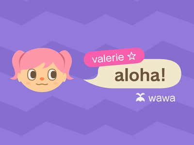 Animal Crossing Avatar ac:nh purple pink cute animal crossing