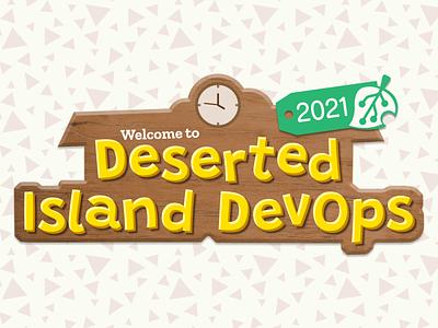 Deserted Island DevOps 2021 Logo design branding cute devops conference logo ac:nh animal crossing