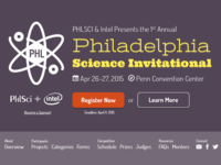Philadelphia Science Invitational Website Header