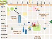 Center City District Pedestrian Map