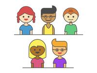 Diverse Vector Headshots