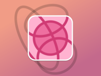 Dribbble is an Intersection of Circles (Sticker Mule Playoff)
