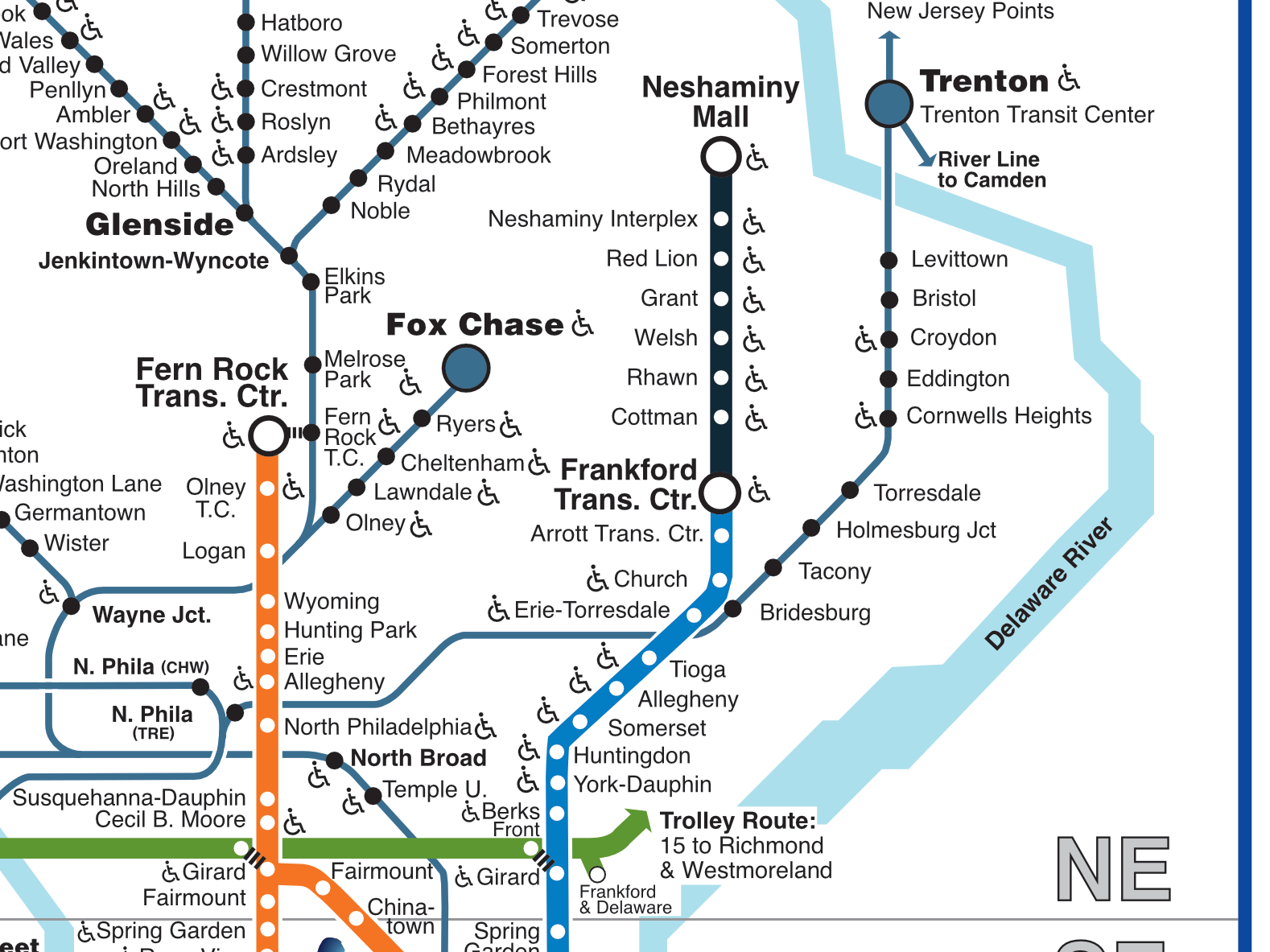 SEPTA Map with Boulevard Direct line (Late 2018) by Melody ... on miami metrorail map, san francisco municipal railway map, massachusetts bay transportation authority map, bay area rapid transit map, baltimore and ohio railroad map, pan am railways map, san francisco muni map, go transit map, nj transit map, north jersey coast line map, broad street subway map, rta rapid transit map, canadian national map, milwaukee county transit system map, second avenue subway map, dallas area rapid transit map, lirr map, long island railroad map, amtrak map, missouri pacific map,