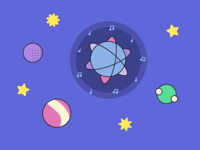 Space-themed ReactJS Illustrations stars space outline reactjs illustration