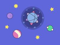 Space-themed ReactJS Illustrations