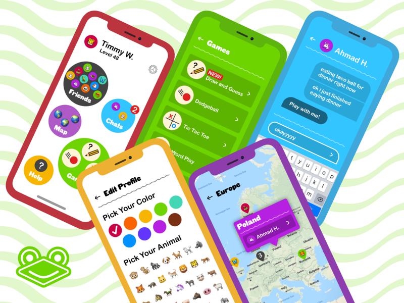 Treetop App friendly large text kids ios iphone ui sketch prototype app design mockup