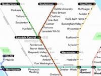 Suburban Philadelphia Rail Map (WIP)