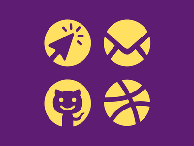 Circle Contact Icons circle iconset dribbble website email octocat icons