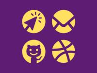 Circle Contact Icons