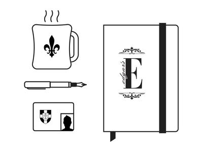 campus icons magazine editorial logo icon student coffee fountain pen student id notebook moleskine louisville