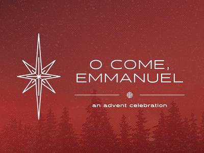 Christmas concert art design seminary christmas advent star trees winter concert clean red halogen