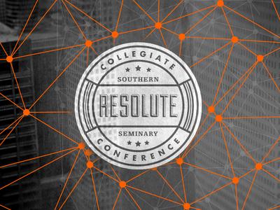Resolute 2015 branding futura egyptienne duke sbts seminary college conference seal brand logo web city