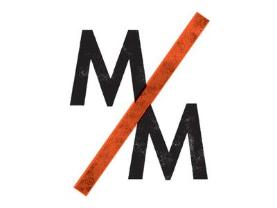 Man to Man futura minimal black orange screenprint grunge logo