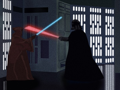 A New Hope obi-wan kenobi lightsaber death star darth vader star wars