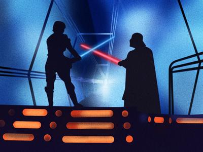 Empire Strikes Back lightsaber cloud city luke skywalker darth vader star wars