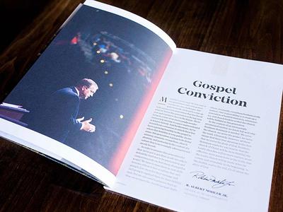 SBTS viewbook opening letter sentinel clean texture mirador tolyer brochure student louisville spread campus seminary editorial
