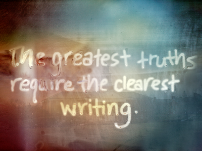 Clear writing quote