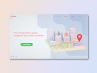 Daily UI #3 - airbnb landing page