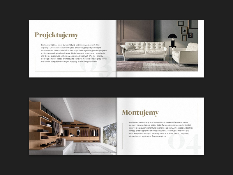 Estima clean catalogue catalog gold classic print typography furniture store luxury elegant brouchure print design