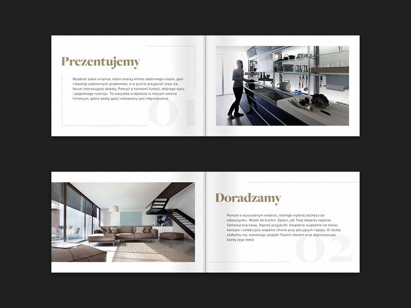 Estima clean catalogue catalog classic print gold typography furniture store luxury elegant brouchure print design