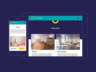 GIM Ostrowo playful booking hotel material design minimalistic design responsive design clean design landing page rwd ui web design