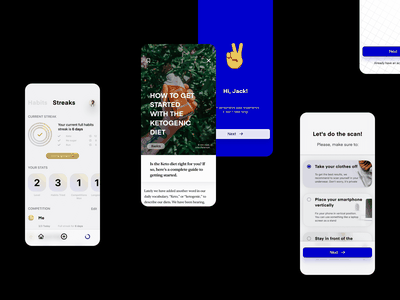 FitAssist – App assistant assist fitness sport augmented reality application ux ui design ui  ux product design design app ui clean bold minimalism minimalist