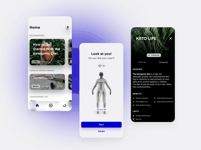 FitAssist – App ai ar app scan avatar minimalism fasting diet healthy product design fitness sport ios iphone app application ui ux mobile app mobile ui mobile
