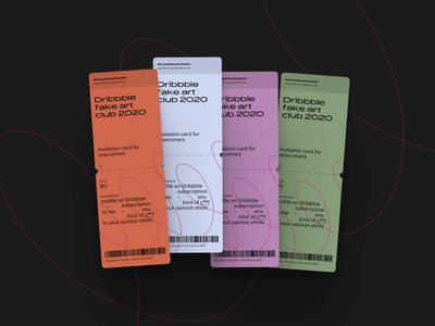 Easy Dribbble Invites Giveaway barcode exibition identity branding 2020 illustration invitations clean minimalism minimalist ticket giveway draft dribbble invitation dribbble invite invite dribbble invite giveaway