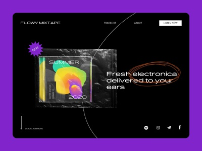 Flowy Mixtape – Playlist Cover landing webdesign website ui illustration landing page abstract graphic design music app art baugasm cover art spotify playlist cover album art music album minimalist