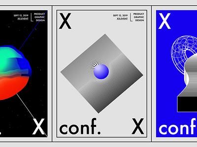 XX conf – Posters bold styleguide conference minimalism identity web blue baugasm branding ui design illustration minimalist abstact 2019 clean