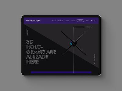HYPERVSN – Web redesign concept landing ux desktop web minimal flat startup clean bold redesign hardware minimalist