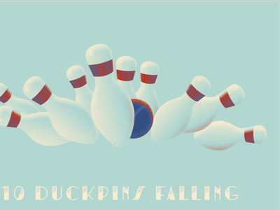 10th Day of Bmore - 10 Duckpins Falling bmore baltimore holiday 12 days of christmas 12days christmas illustration