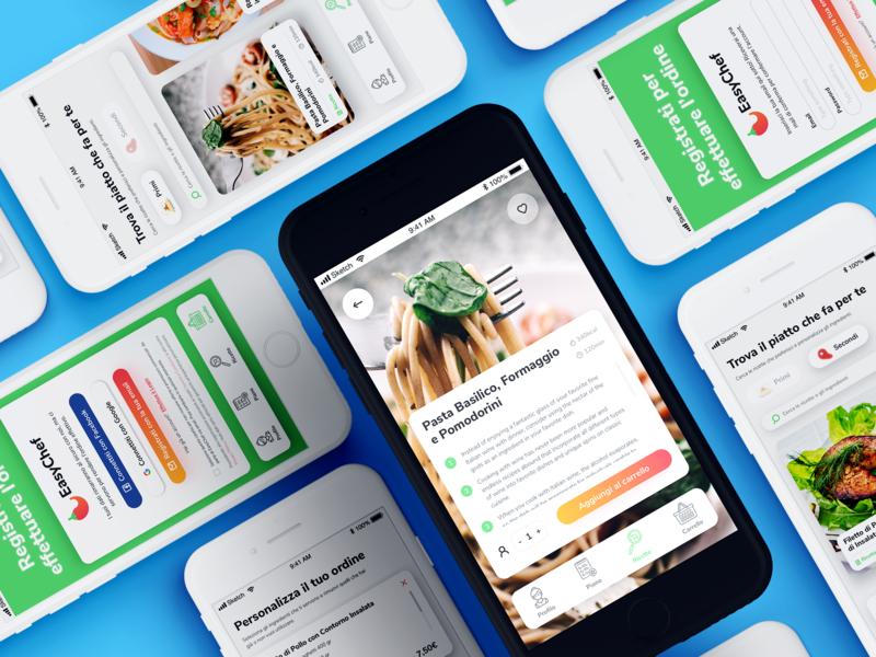 Easychef App Design product design ui mobile mobile app app design app interface ui elements sketch design ux design