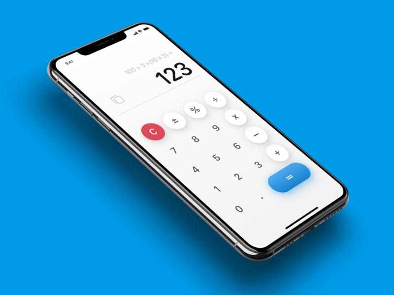 Daily UI Challenge #004 iOS 13 Calculator concept iphone app ui interface ui elements sketch design concept ios 13 ios calculator dailyui challenge daily ui challange dailyui 004 dailyui