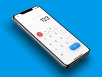 Daily UI Challenge #004 iOS 13 Calculator concept