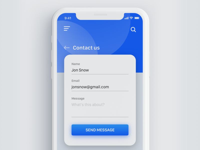 Daily UI Challenge #028 - Contact us daily ui 028 contact page contact us iphone daily 100 challenge web design app design app dailyui challenge daily ui challange daily challange daily dailyui interface ui ui elements sketch design